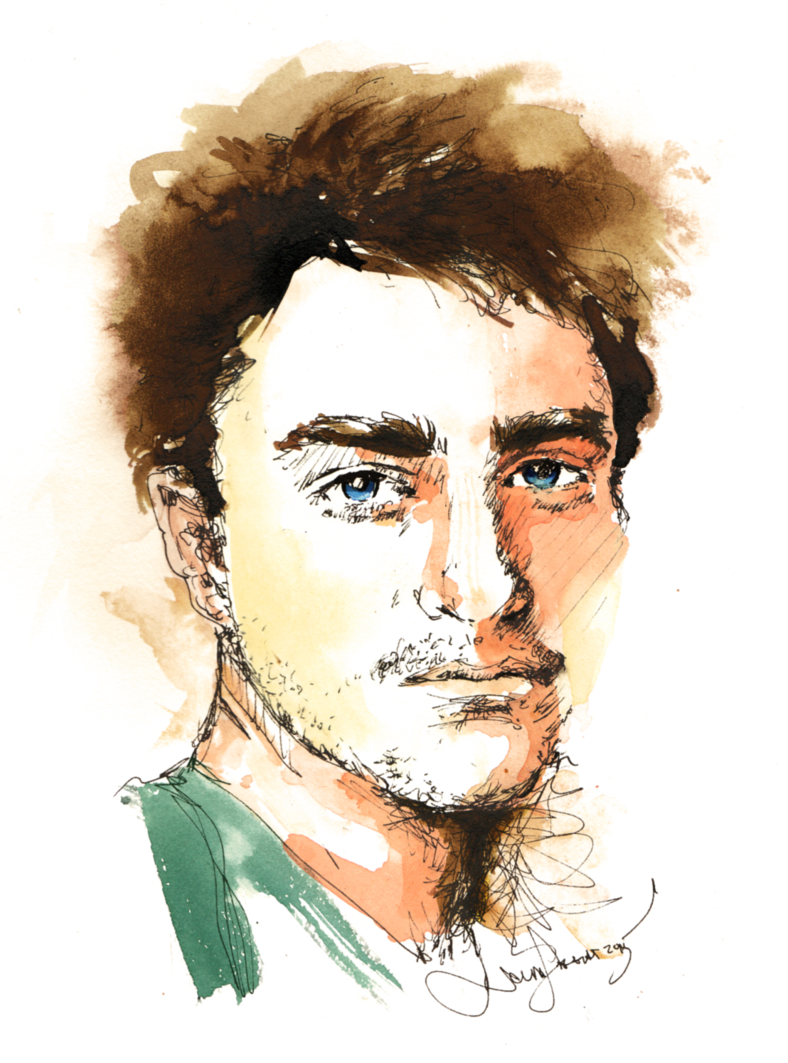 <b>Portrait of Daniel Radcliffe</b>