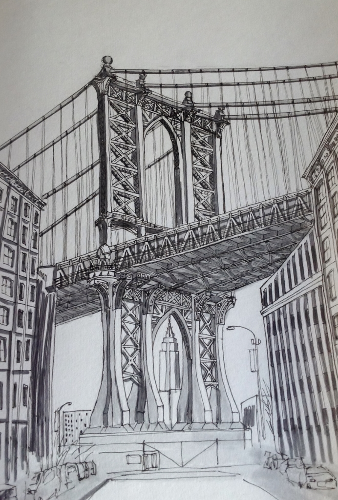 <b>View of Manhattan Bridge from Dumbo</b>