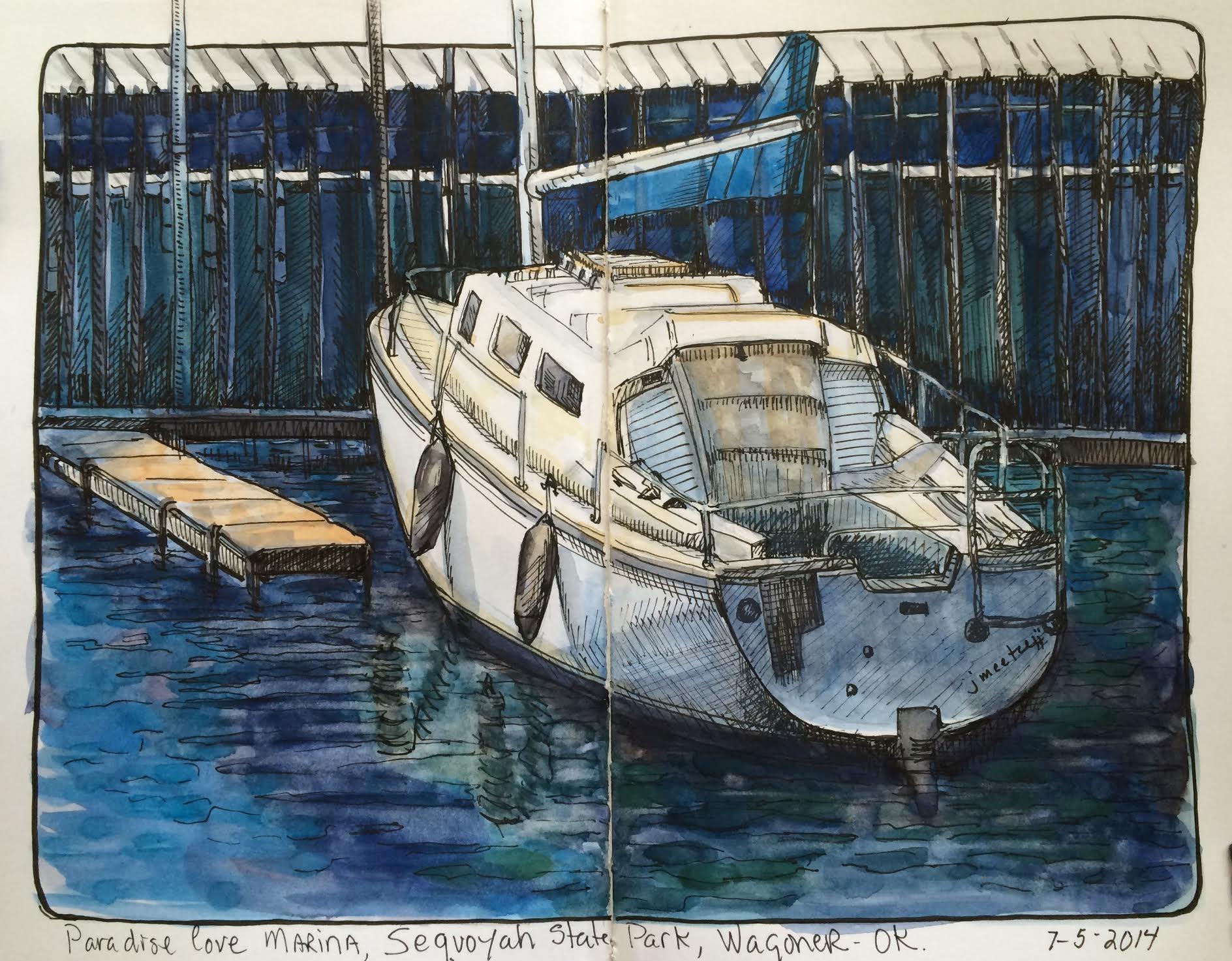 <b>Sailboat at Paradise Cove</b>