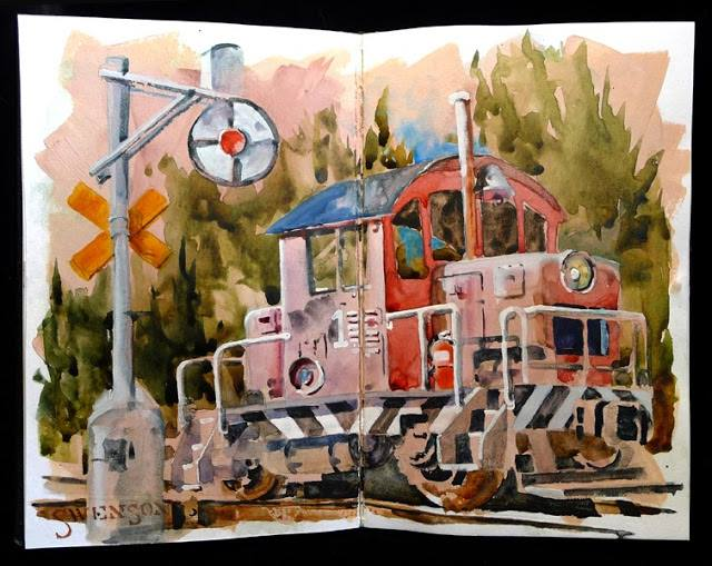 <b>Train in Watercolor</b>