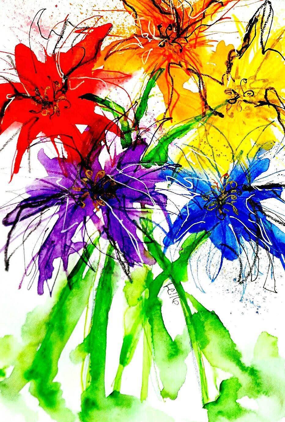 <b>Floral Rainbow</b>