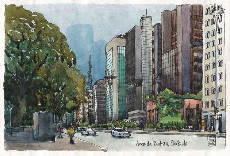 <b>On the Avenida Paulista, São Paulo</b>