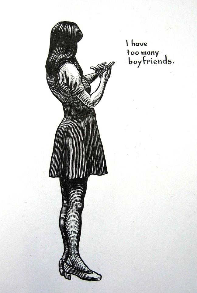 <b>Girl with Mobile Phone</b>