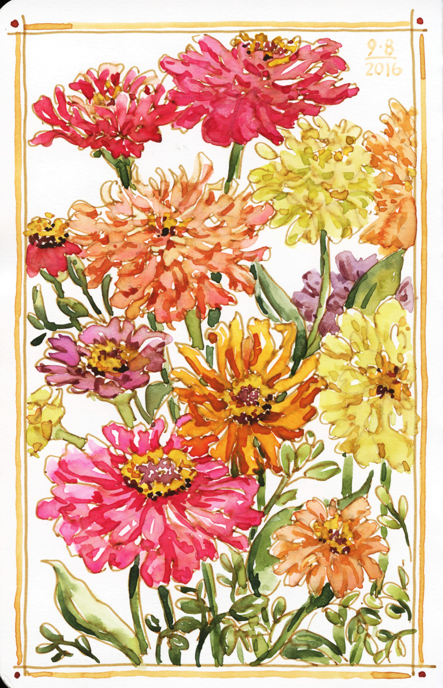 <b>Zinnias From My Garden</b>