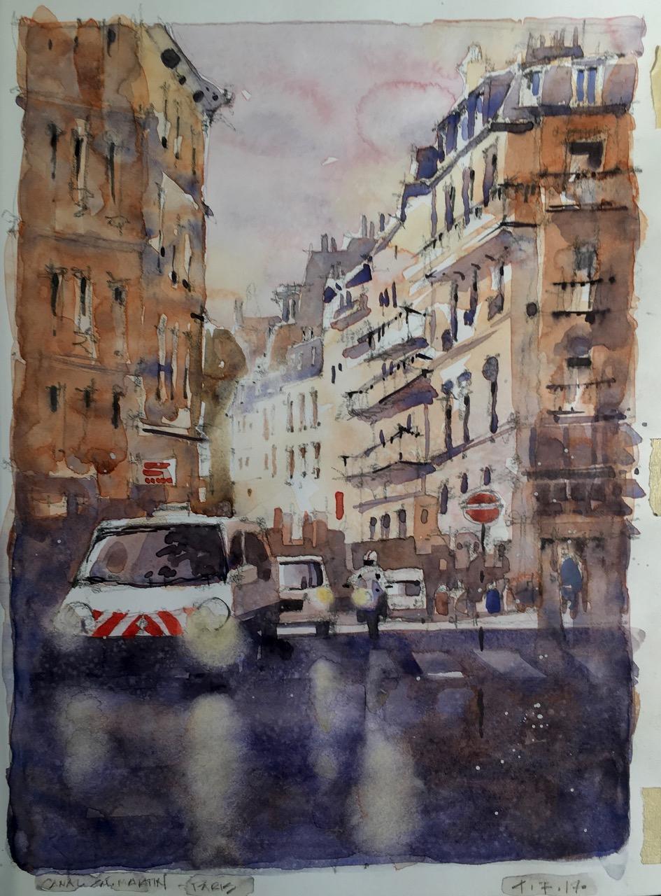 <b>Paris Street Scene</b>